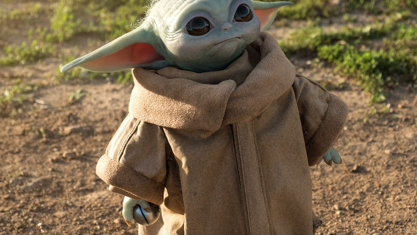 Mandalorain Baby Yoda in Space Cradle Star Wars The Force Awakens Figure Loose