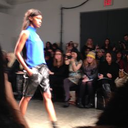 Long leather shorts from Karolyn Pho.