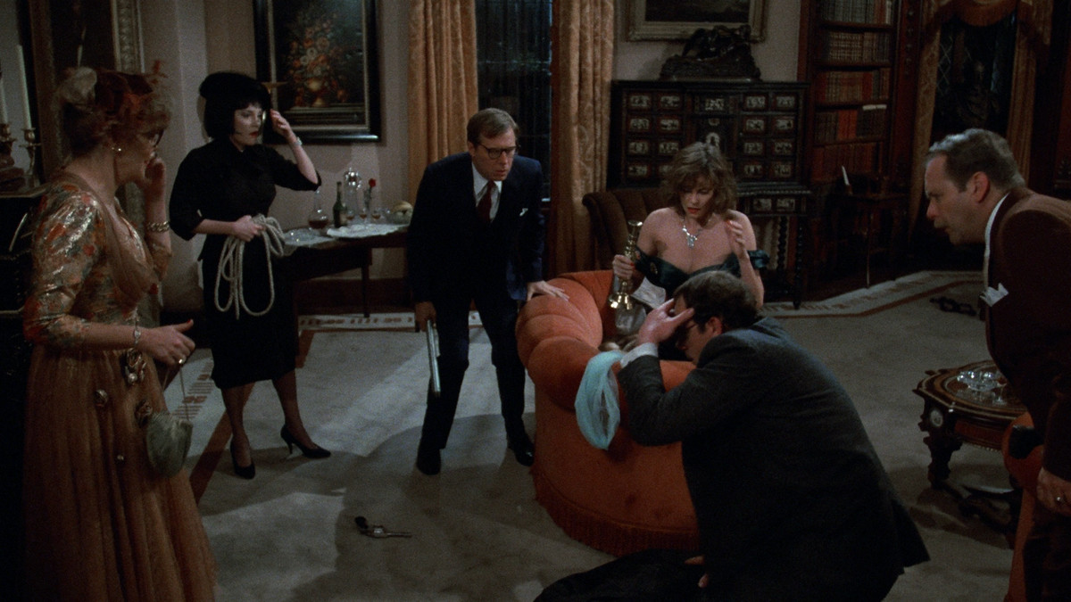 The cast of Clue tries to figure out what happened during a blackout
