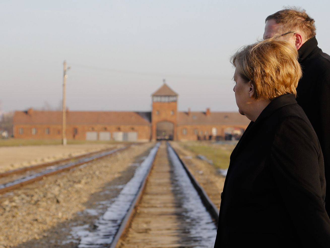German Chancellor Angela Merkel visits Auschwitz for the first time