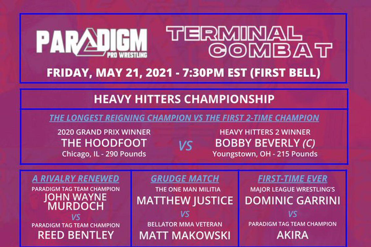 Poster for Paradigm Pro Wrestling Terminal Combat