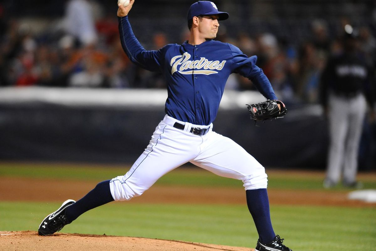 Here's Joe Wieland, who the Brewers will see for the first time tonight.