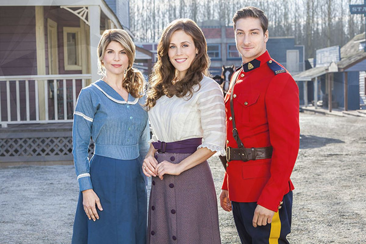 """Lori Loughlin, left, Erin Krakow and Daniel Lissing star in """"When Calls the Heart: Heart of a Hero,"""" now on DVD."""