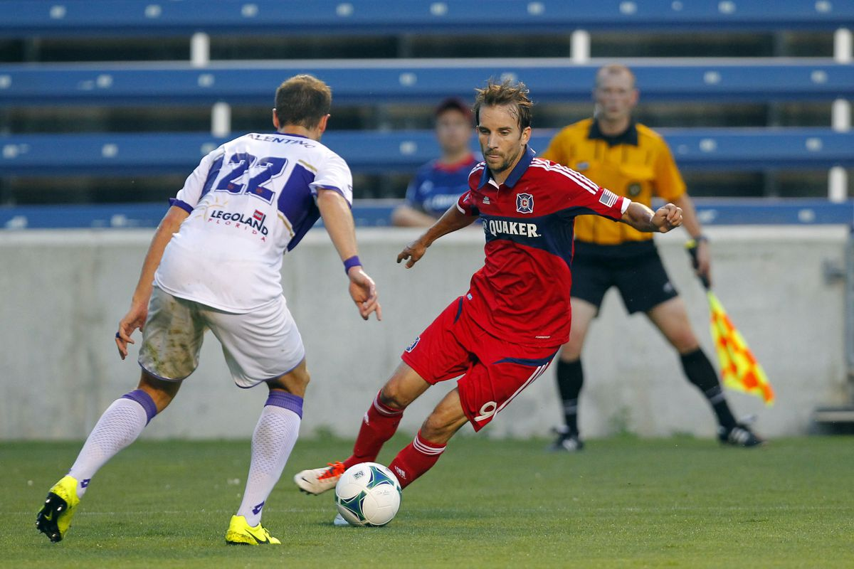 Chicago Fire forward Mike Magee (#9) has proven to be a red-hot addition to his hometown team.