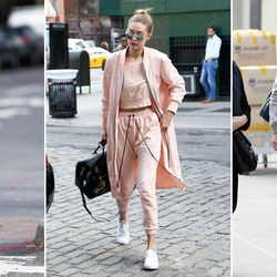 Gigi and her BFF Kendall Jenner were among the first stars to embrace the athleisure trend. She's often spotted in classic sneakers, tracksuits, sweatshirts, and sports bras — and she firmly believes leggings ARE pants, for what it's worth.