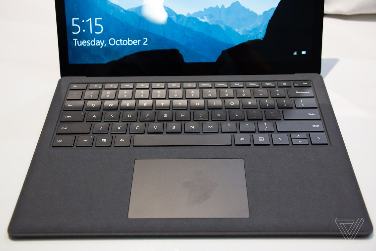 First look at Microsoft's new matte black Surface Laptop 2 - The Verge