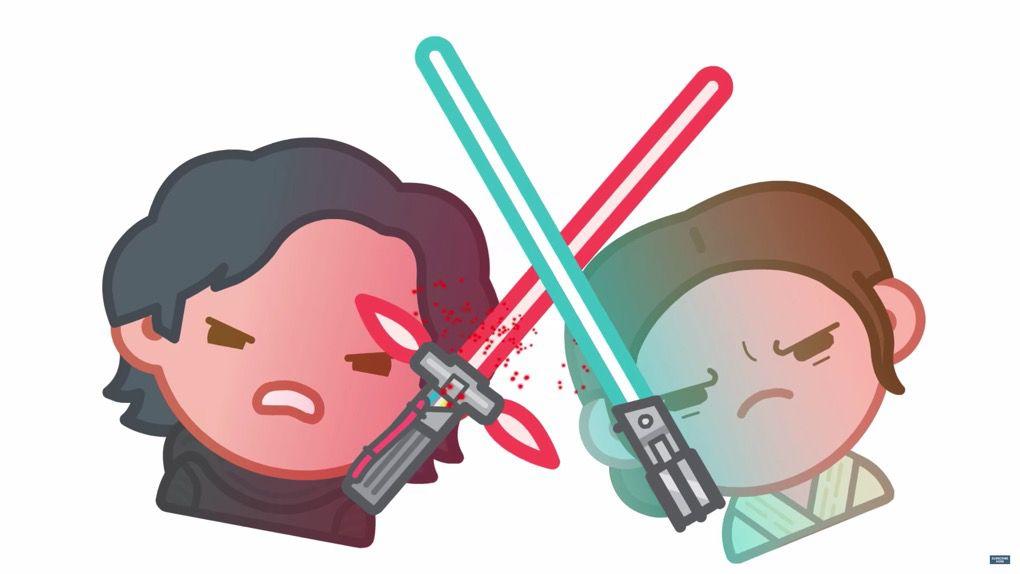 The Force Awakens emoji movie screenshot