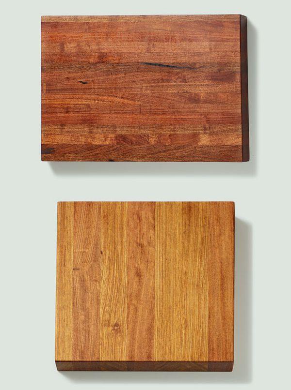 Mesquite and Brazilian Cherry butcher blocks