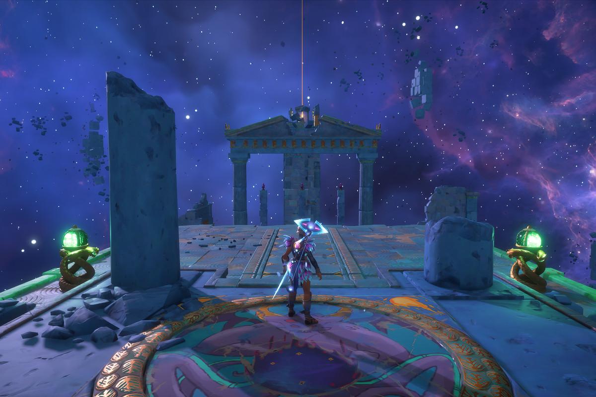 The entrance to the Atalanta's Nightmare Vault of Tartaros in Immortals Fenyx Rising