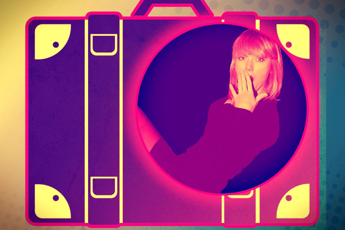 taylor swift smuggled out of her apartment in a massive suitcase