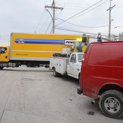 1:45 p.m. Rental truck having difficulty maneuvering out of the Players/VIP parking lot -