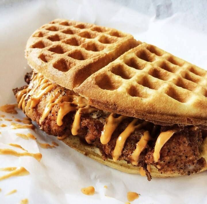 waffle fried chicken sandwich