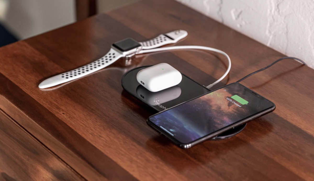 This Mophie Wireless Charger Is Probably The Closest Thing To Airpower That Apple Will Ever Sell The Verge Get the best deals on mophie wireless mobile phone chargers & holders. this mophie wireless charger is