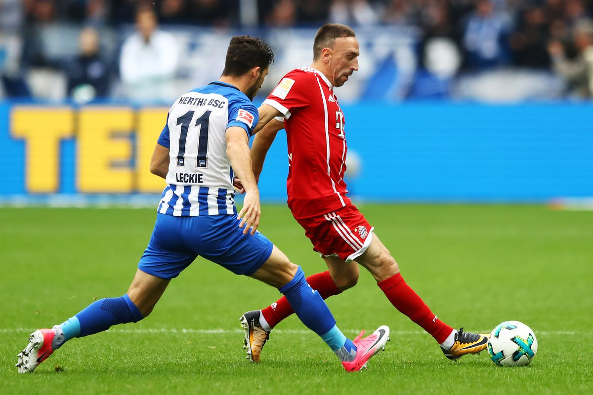 Franck Ribery withdrawn from Hertha BSC match after serious knee