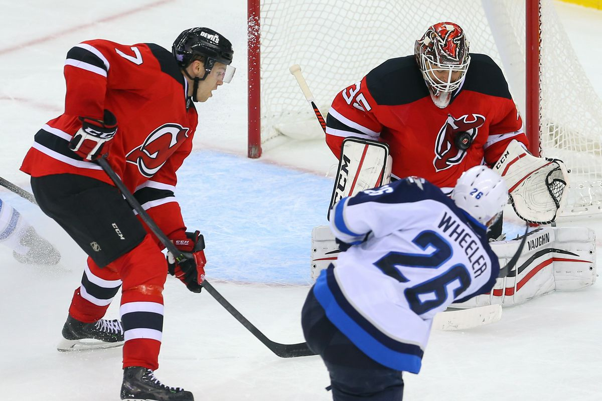On October 9, you too can possibly see Blake Wheeler fire a puck into Cory Schneider's logo at a short range while Jon Merrill looks on.