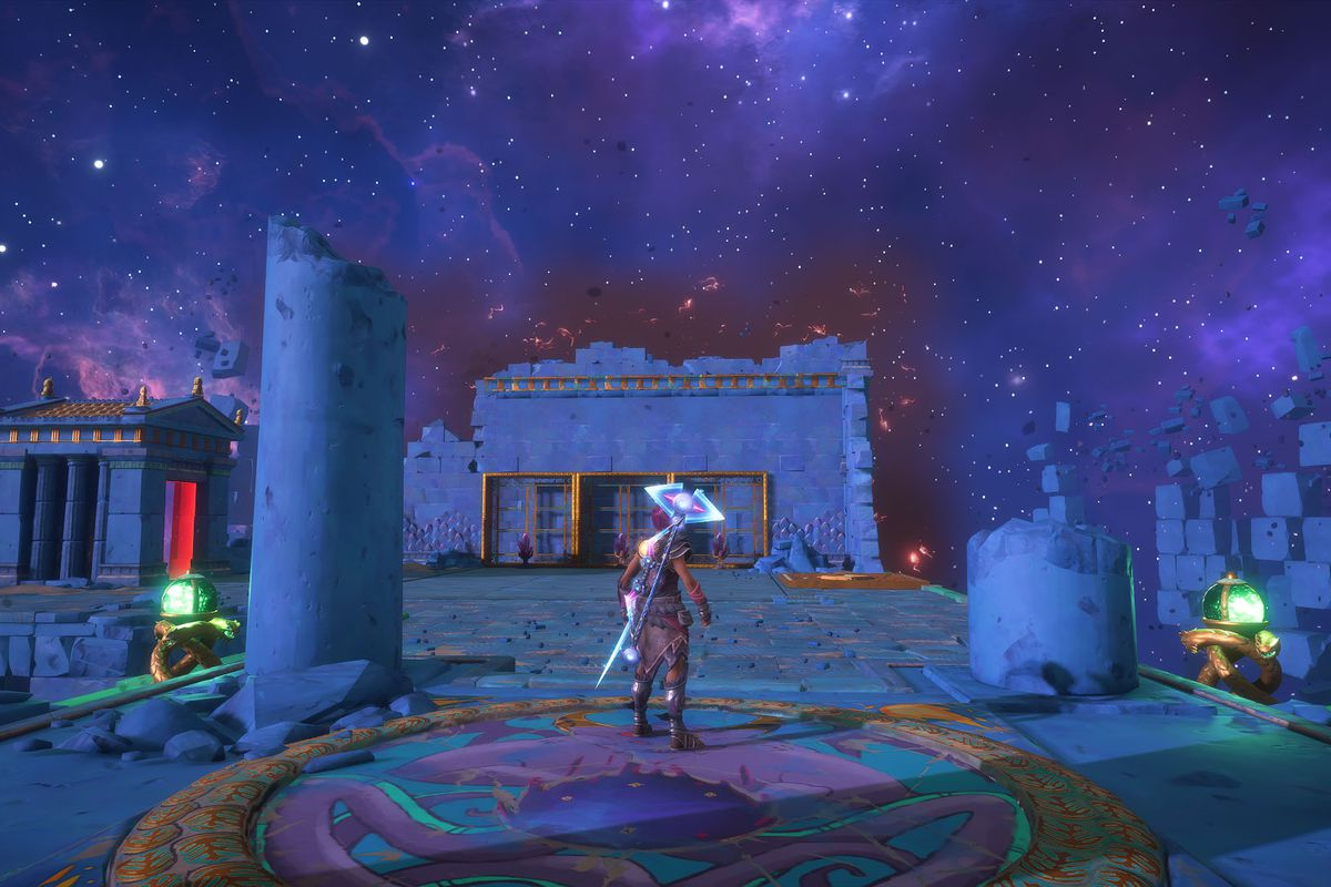 The entrance to the Odysseus's Prison Vault of Tartaros in Immortals Fenyx Rising