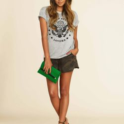 US LOVERS Tee, $54; Adore Camo Shorts, $68