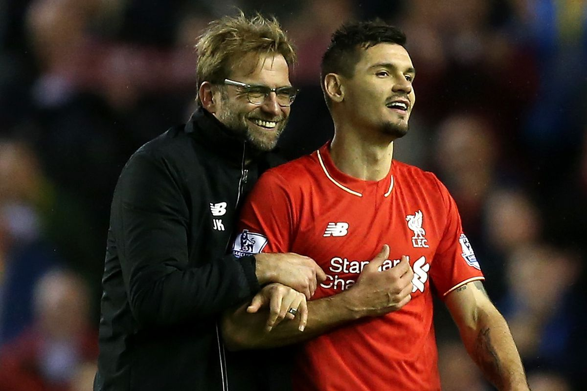 Will this ever stop being Eliz's favourite picture of Klopp and Lovren? NOPE.