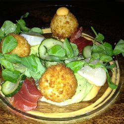 """Fried Sushi Balls from Chez Sardine by <a href=""""http://www.flickr.com/photos/69270013@N08/8442880369/in/pool-eater/"""">manhattanbywayofmayberry</a>"""