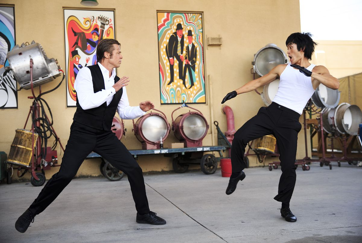 brad pitt fights bruce lee in once upon a time in hollywood