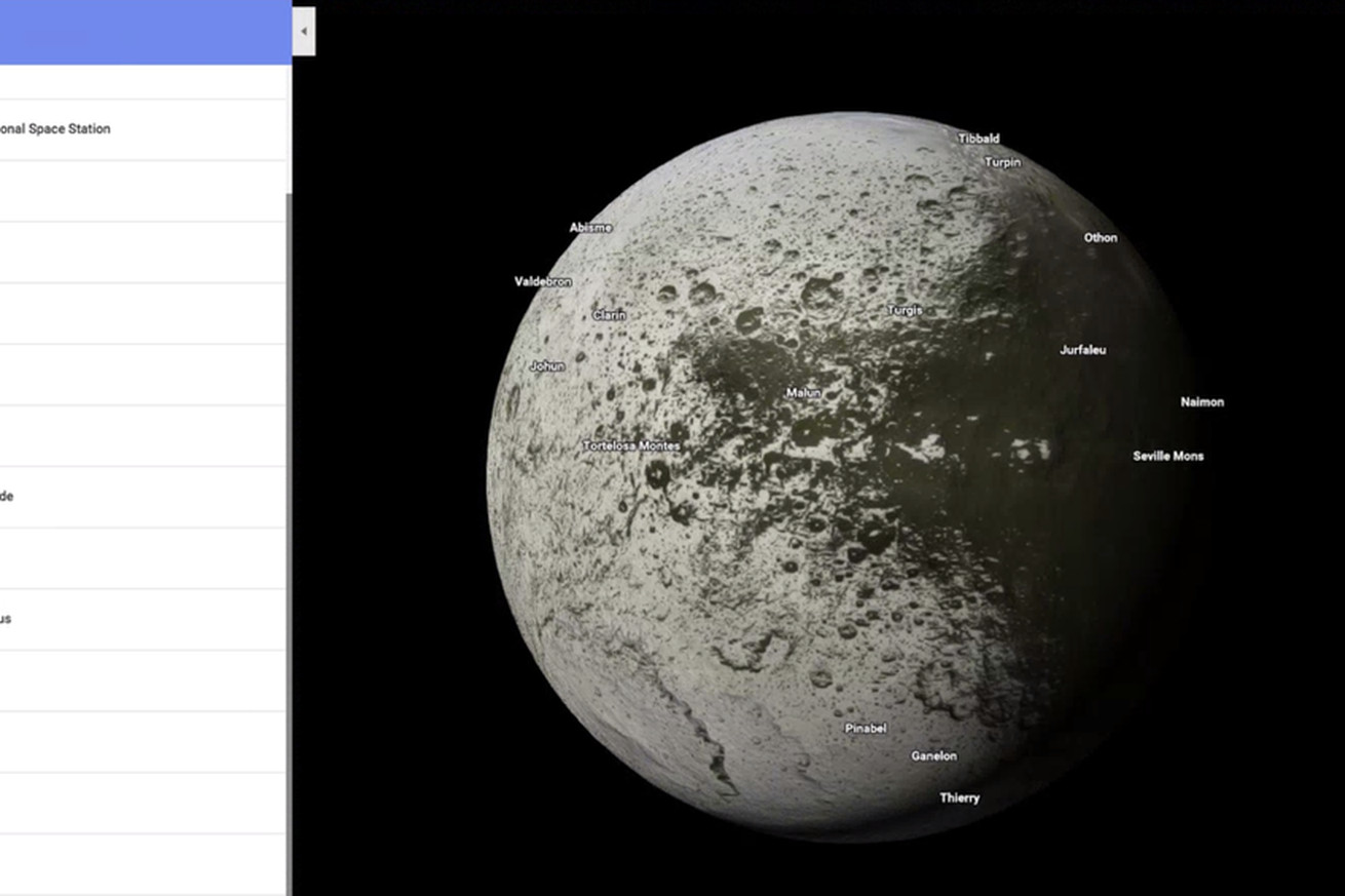 google maps now lets you explore more than a dozen planets and moons