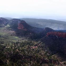 FILE - The Bears Ears, of Bears Ears National Monument on Monday, May 8, 2017. The New York times cited unnamed sources to report Secretary Ryan Zinke is recommending the Bears Ears National Monument in Utah be reduced from 1.35 million acres to 160,000 acres.