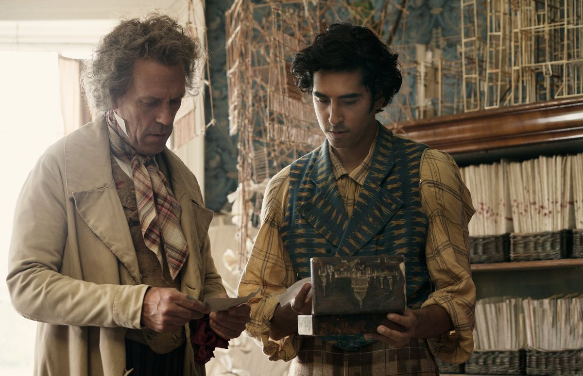 The personal history of the bottom writer: Hugh Laurie and Dev Patel see an old box