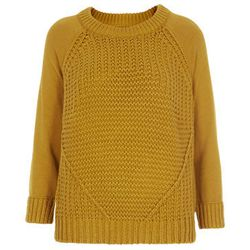 """<b>Topshop</b> Knitted Mixed Stitch Sweater in Olive, <a href=""""http://us.topshop.com/en/tsus/product/clothing-70483/knitwear-70499/knitted-mixed-stitch-jumper-2298565?bi=1&ps=200"""">$84</a>"""