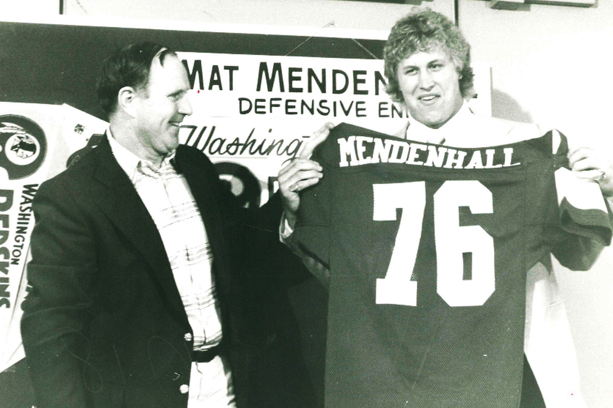 The Washington Redskins selected Mat Mendenhall in the second round of the 1980 draft.