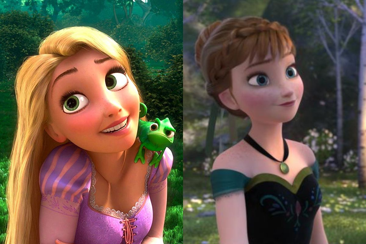 Tangled's Rapunzel and Frozen's Anna