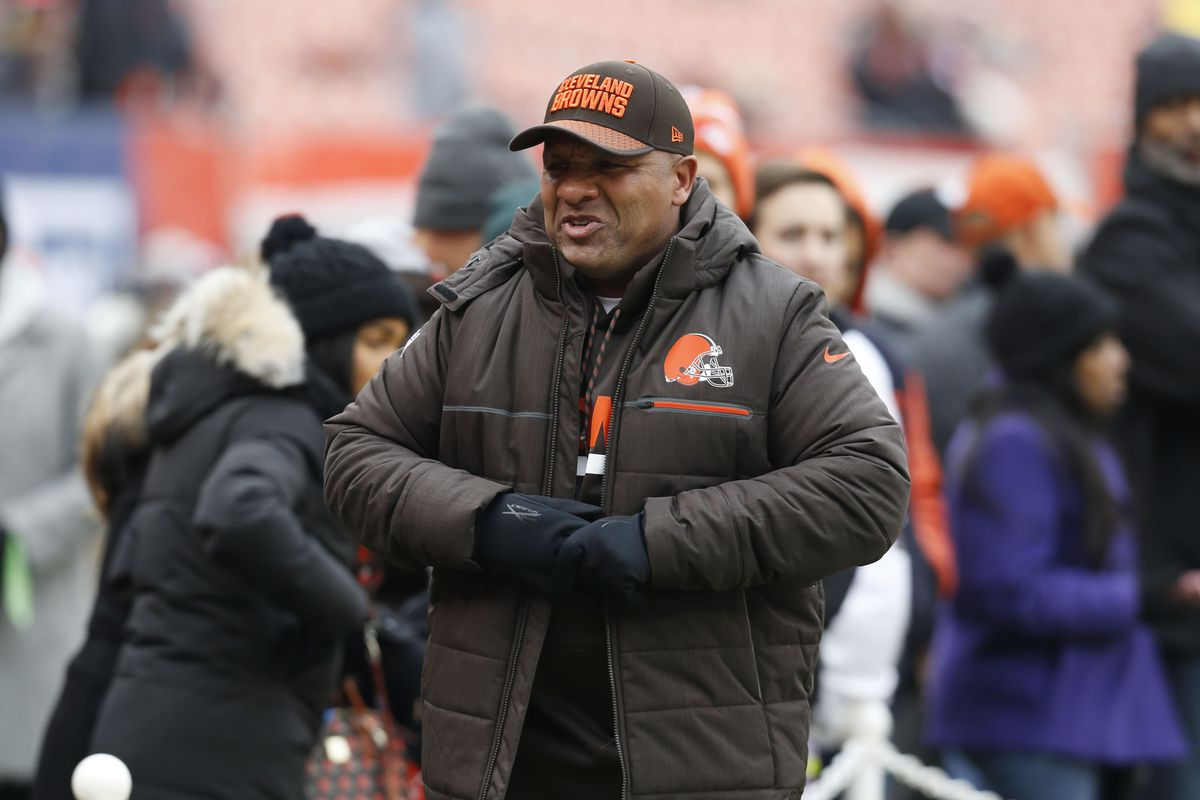 Why Browns coach Hue Jackson says he will jump into Lake Erie