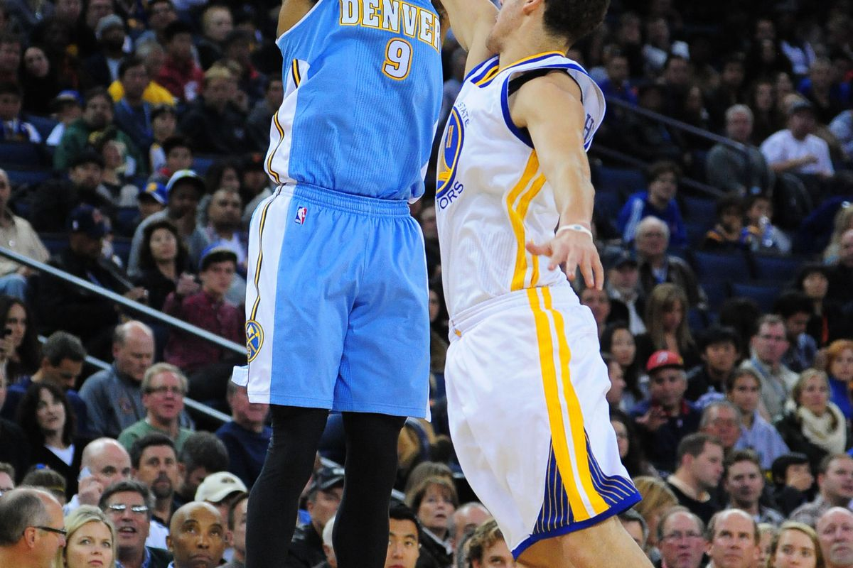 Iguodala has led the Nuggets in scoring this season against the Warriors.