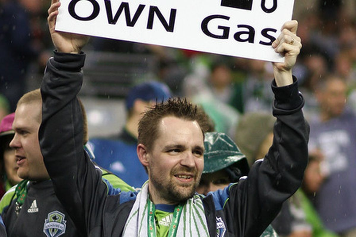 ... except when they visit Oregon, as hundreds are doing today to see the Seattle Sounders take on the Portland Timbers at JELD-WEN Field.