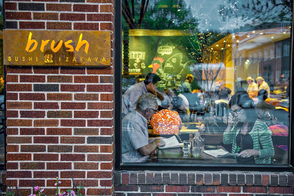 Brush Sushi Izakaya in Decatur on a busy Friday night.