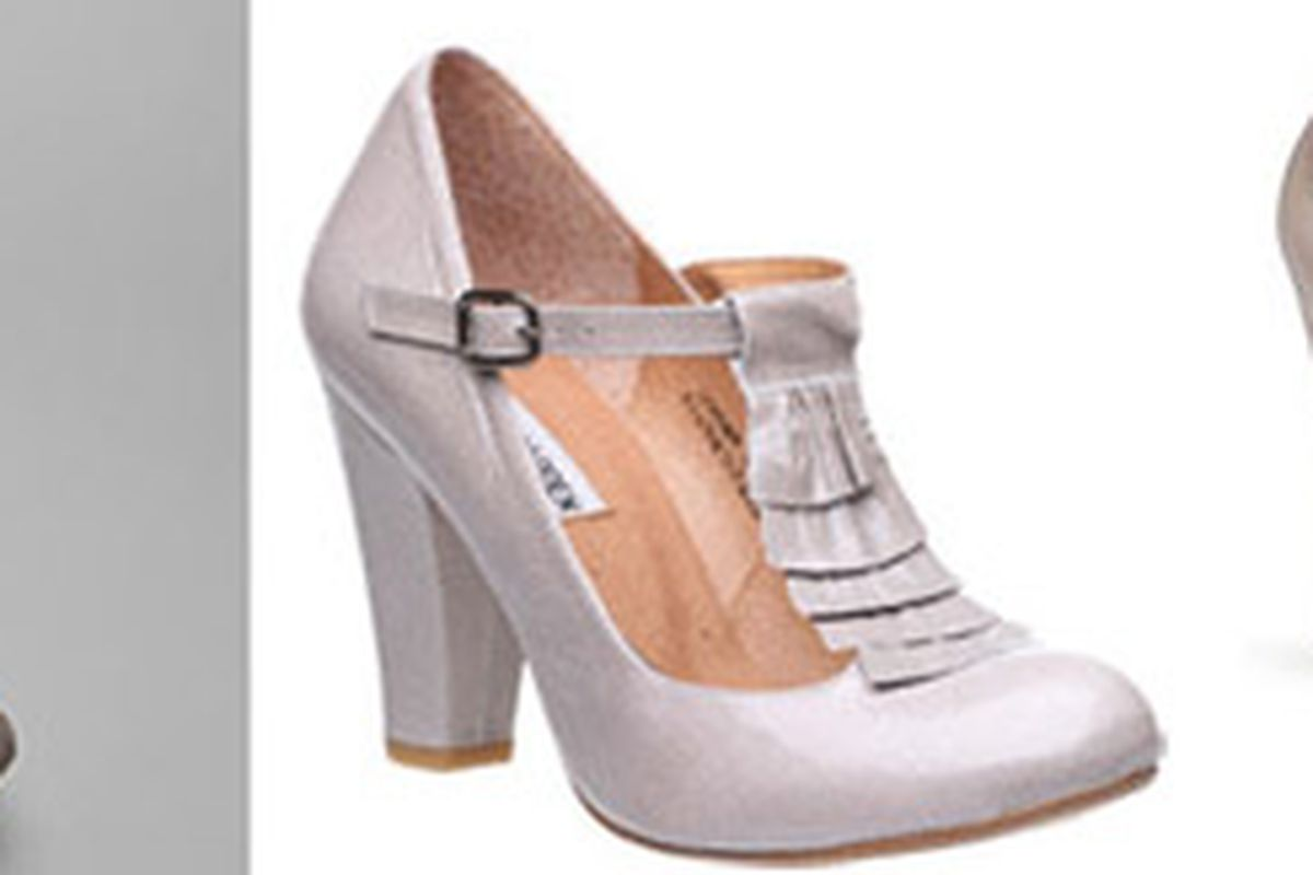 """A copy of a copy of a copy? From left: Chie Mihara, Steve Madden, Steve Madden for Olsenboye. Images via <a href=""""http://www.Nordstrom.com"""">Nordstrom</a> and <a href=""""http://www.stylelist.com/2009/11/03/mary-kate-and-ashley-olsenboye-shoes-steve-ma"""