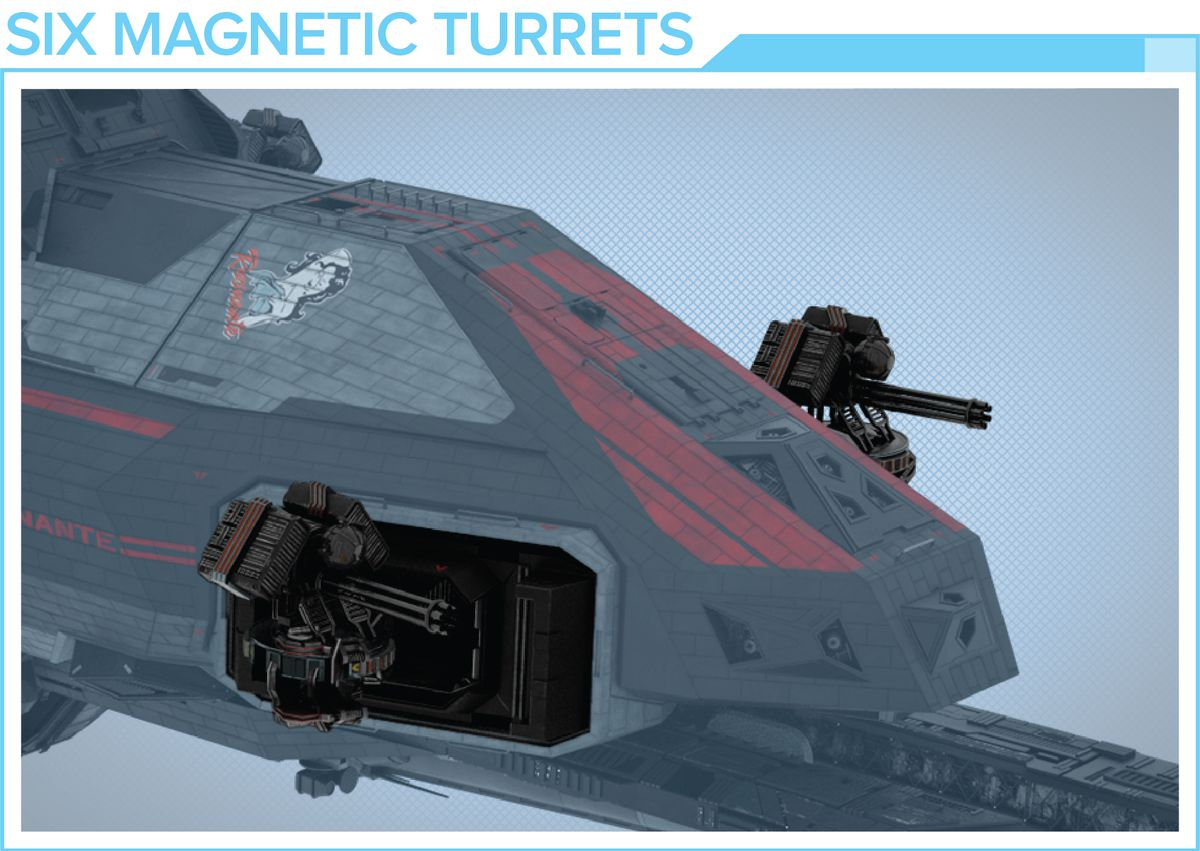 Nose art will be screen accurate, as will the magnetic point defense canon.