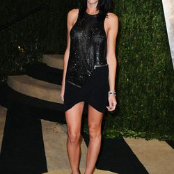 Model/point in the Rupert Sanders-Kristen Stewart love triangle Liberty Ross shows off her killer legs.