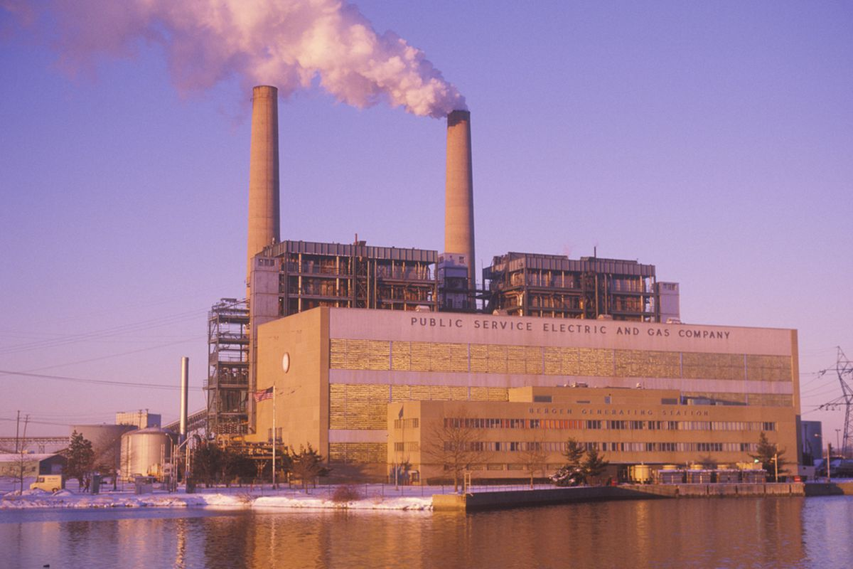 The Bergen Generating Station of the Public Service Electric and Gas Company in Ridgefield, New Jersey.