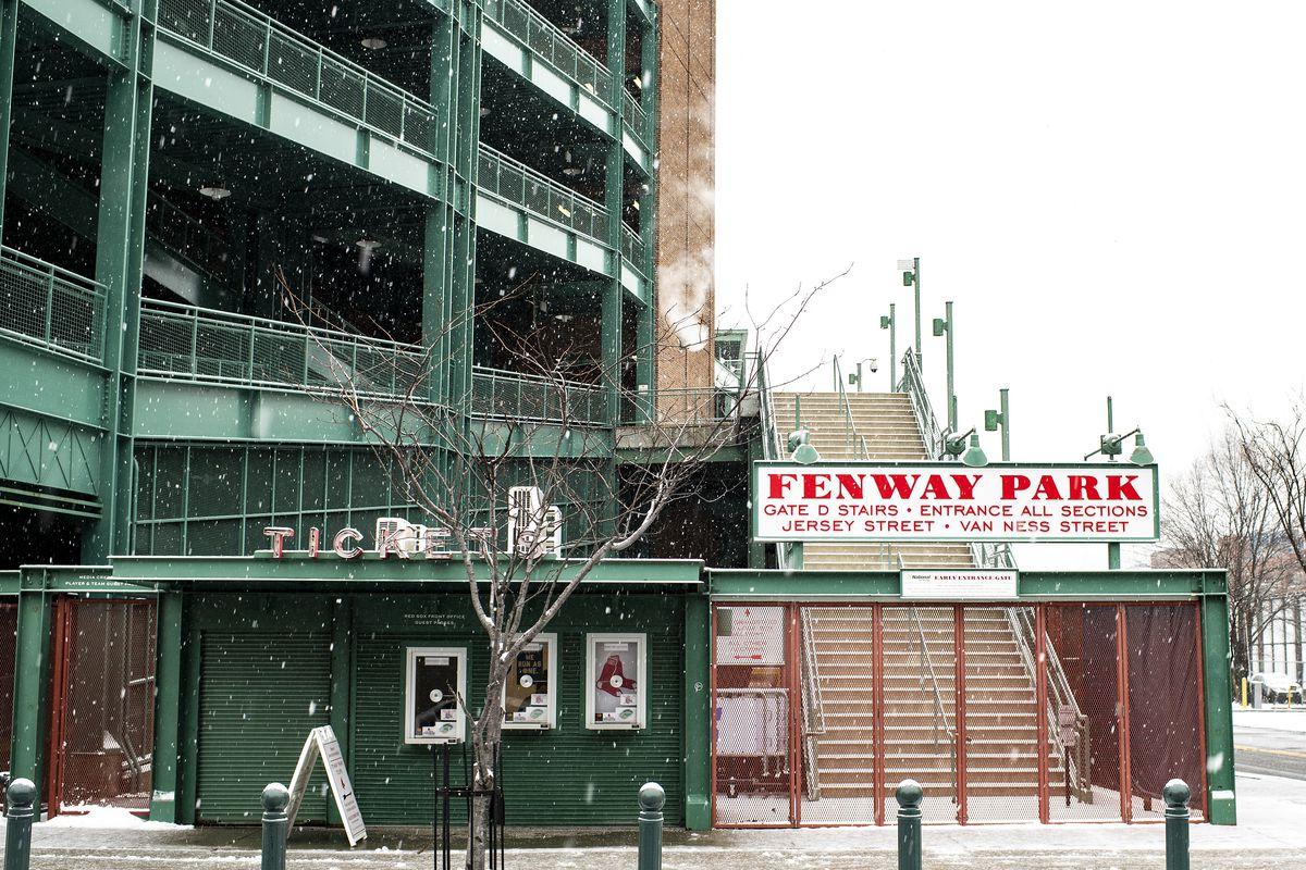Fenway Park Snow Fall