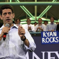 Republican vice presidential candidate, Rep. Paul Ryan, R-Wis., speaks during a campaign event at East Carolina University, Monday, Sept. 3, 2012, in Greenville, N.C.