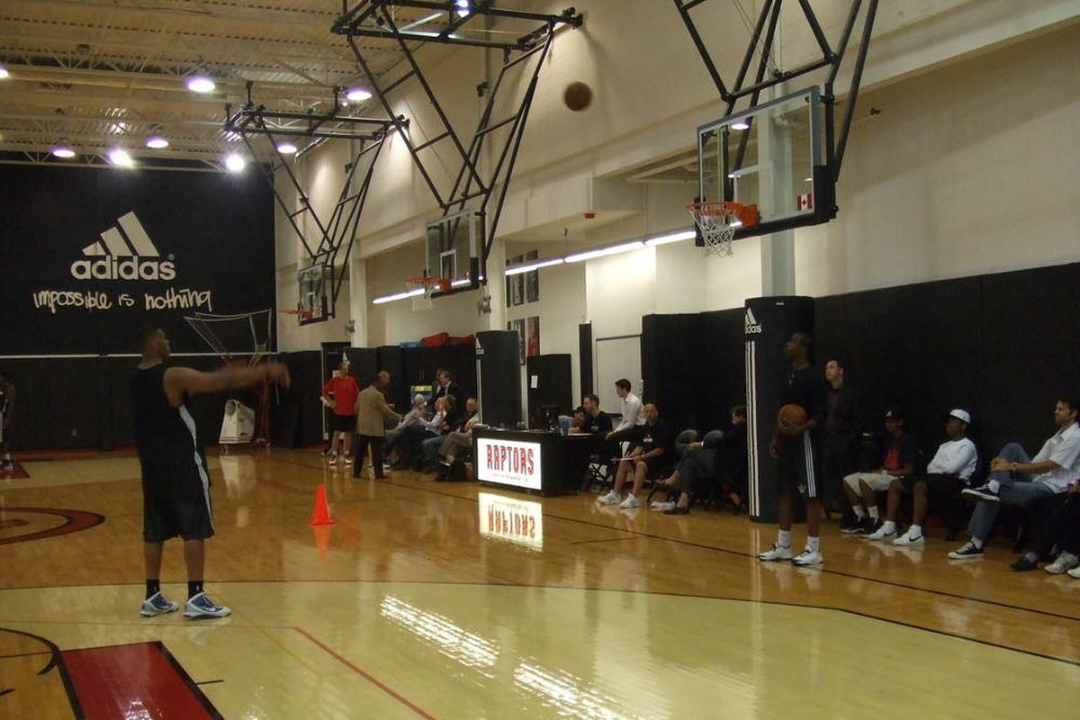 Alvin Williams rebounds for one of the draft's biggest question marks, Daniel Orton, who was in for a workout yesterday.