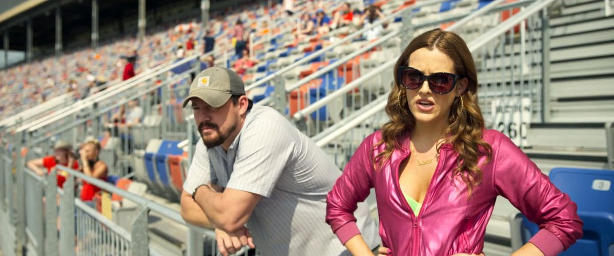 Channing Tatum and Riley Keough in Logan Lucky