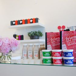 """Racked Fit Clubbers enjoyed refreshing sips of <a href=""""http://www.juiceservedhere.com"""">Juice Served Here</a>'s coconut concoction, <a href=""""http://juiceservedhere.com/j12"""">Cream Party</a> and yummy yogurt from <a href=""""http://www.zenmonkeybreakfast.com"""">"""