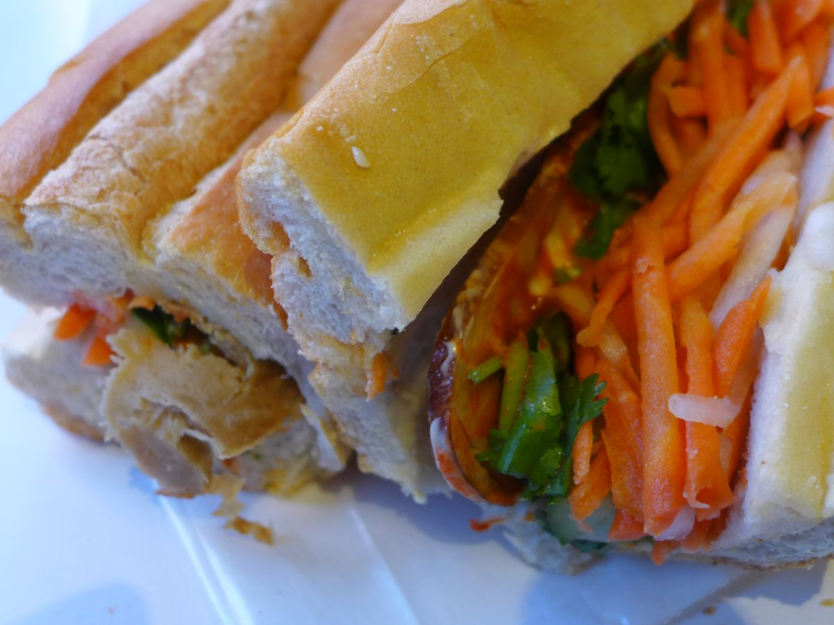 Vegetarian pork banh mi, you won't miss the meat
