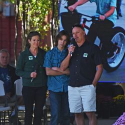 Jim Seaver, alongside Debbi and Luke Seaver, express their gratitude to the community during a memorial service for Grant Walker Seaver in Park City on Saturday, Sept. 17, 2016. Grant Seaver died last Sunday, days before his friend died in a similar manner. Police are investigating and still awaiting lab results to determine the cause of death.