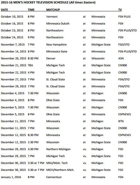Big Ten Schedule 2015 page 1