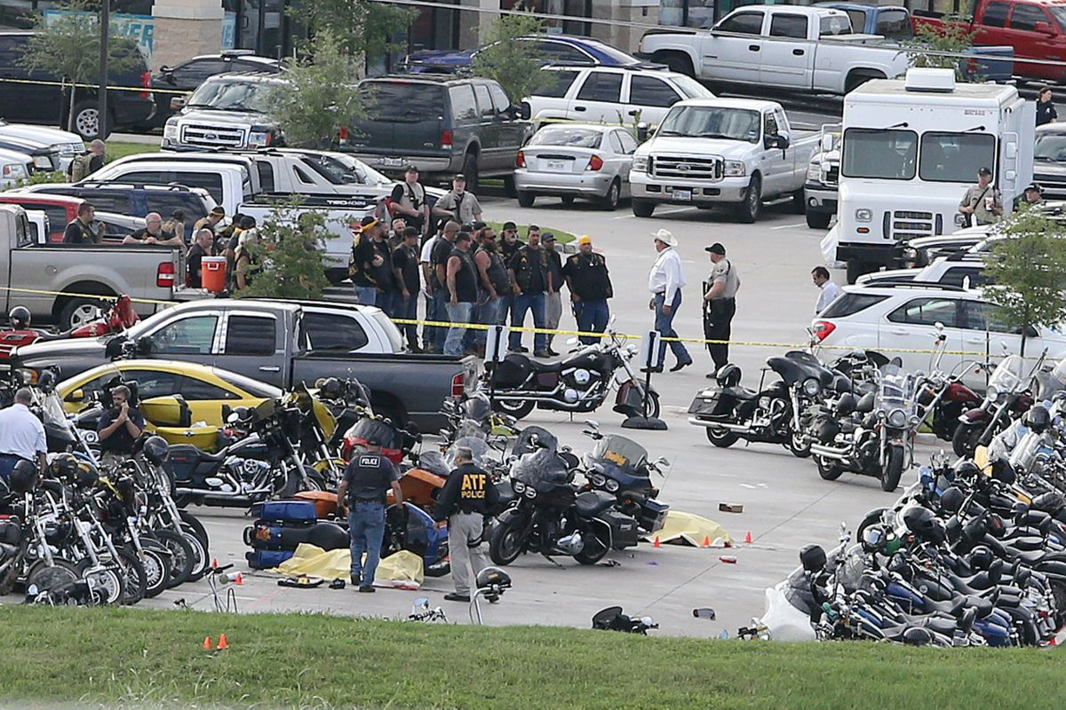 The aftermath of the Waco shootout.