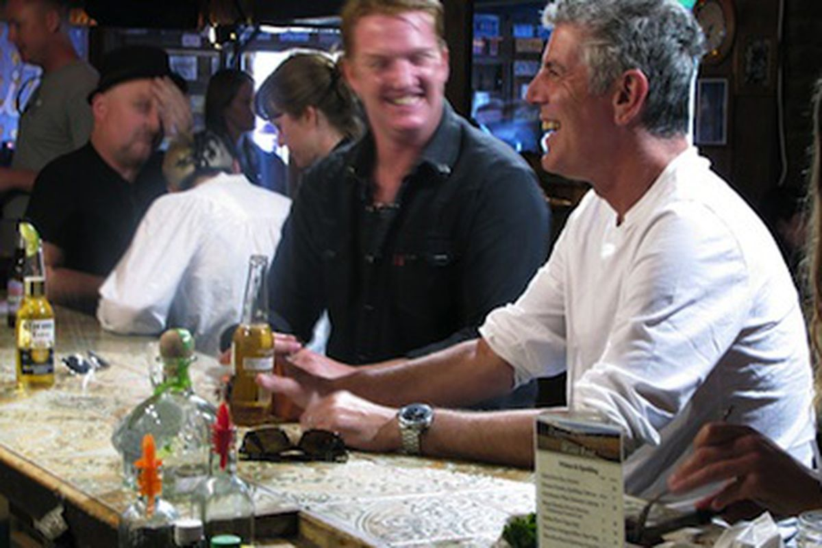 Bourdain and Homme.