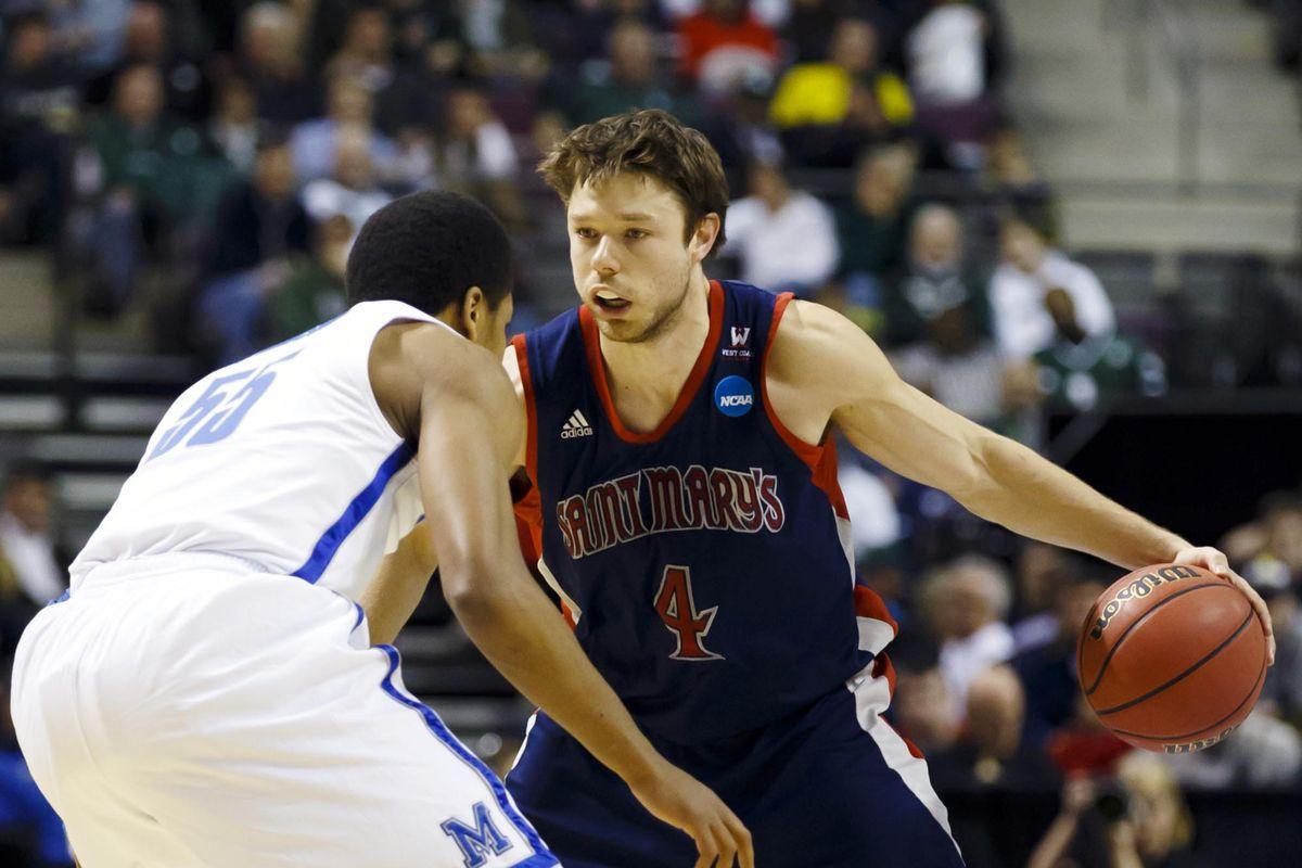 Dellavedova, as a senior, in the NCAA Tournament.