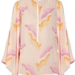 """Marc Jacobs crystal-embellished silk-blend chiffon <a href=""""http://www.theoutnet.com/product/214290"""" rel=""""nofollow"""">blouse</a>. Original price $1,700; now $255."""